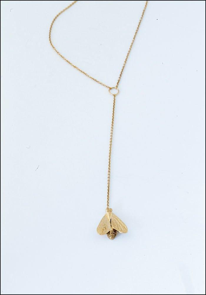 Avocet Moth Pendulum Necklace