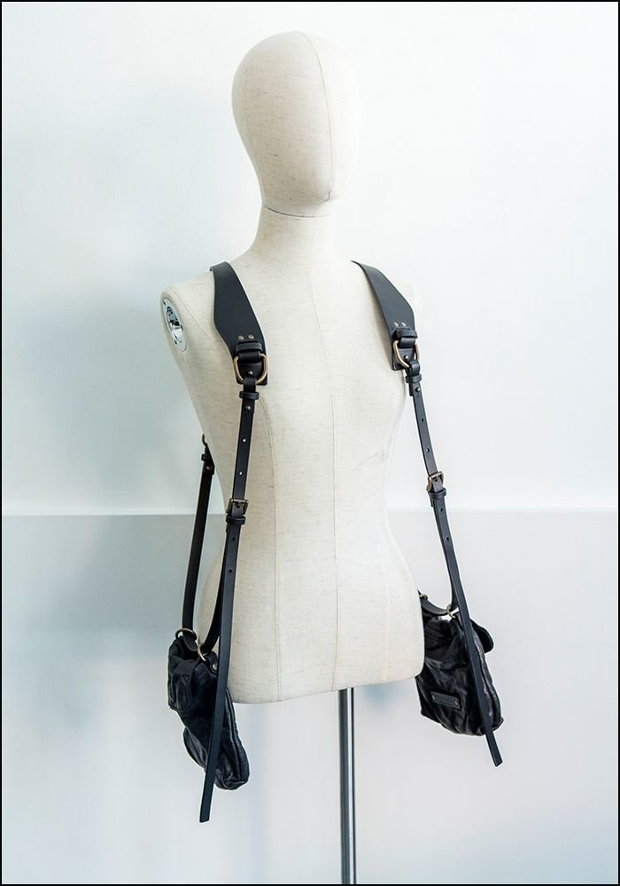 Teo+Ng Double Pouch Shoulder Harness Bag