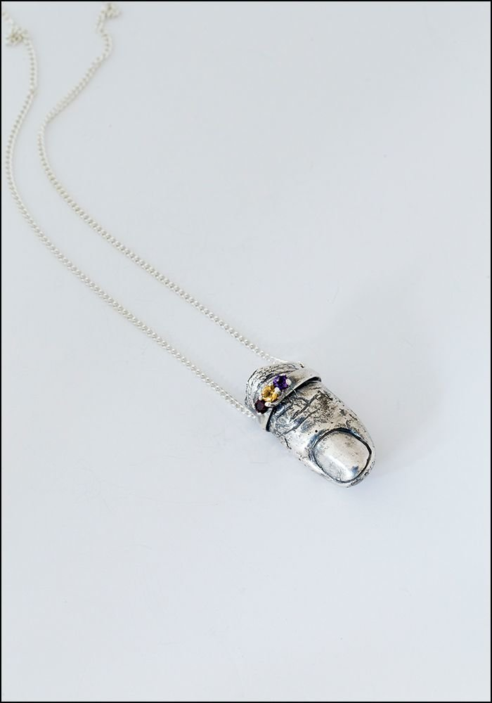 Silver Finger Necklace