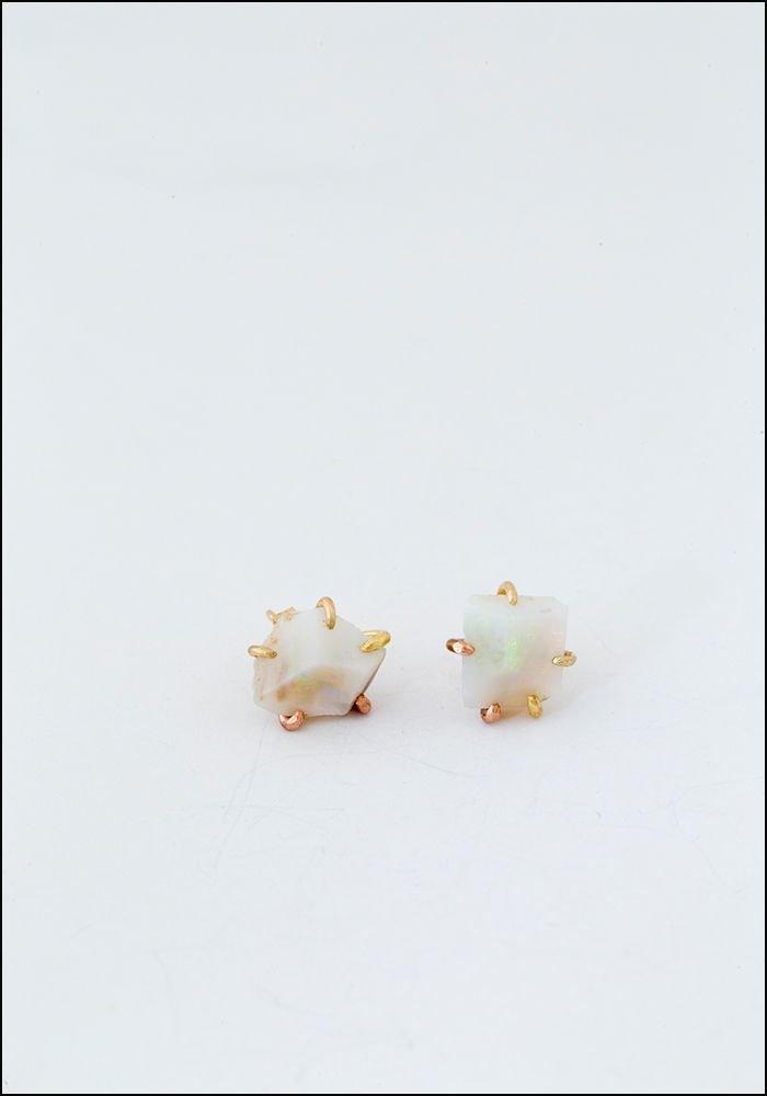 Variance Object Large Australian Opal Stud Earrings