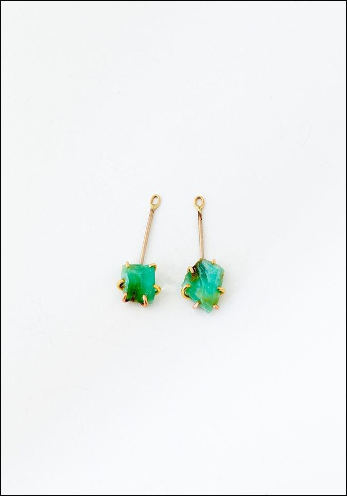 Variance Object Peruvian Opal Drop Earrings
