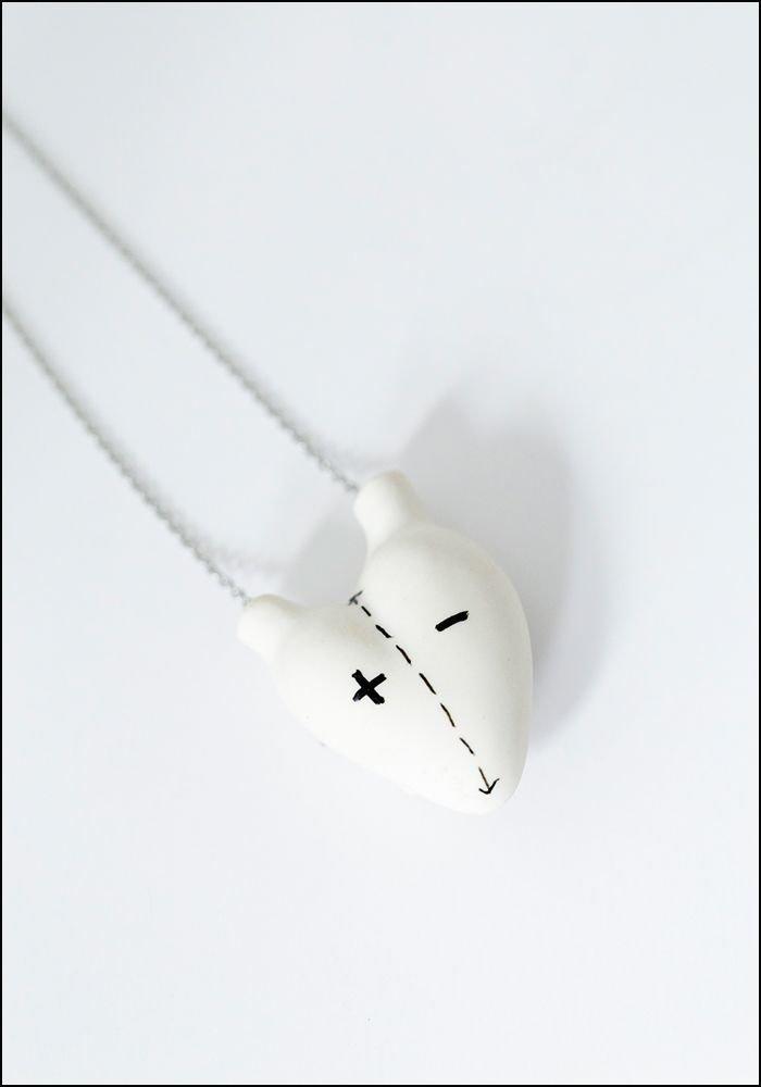 FOS Porcelain Heart Opposite Necklace