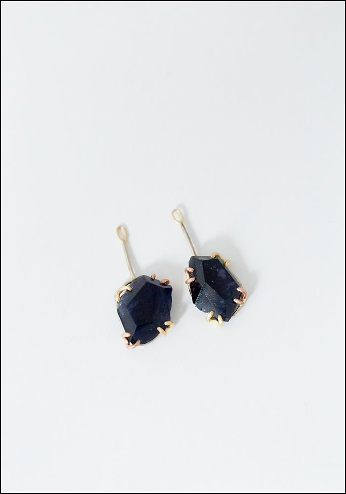 Variance Object Iolite Drop Earrings