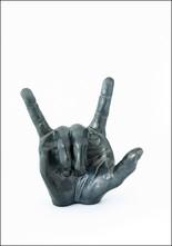 Derek Weisberg Derek Weisberg Ceramic Love Hand Gesture Sculpture