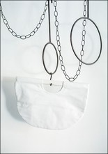 Modern Weaving Half CIrcle Clutch