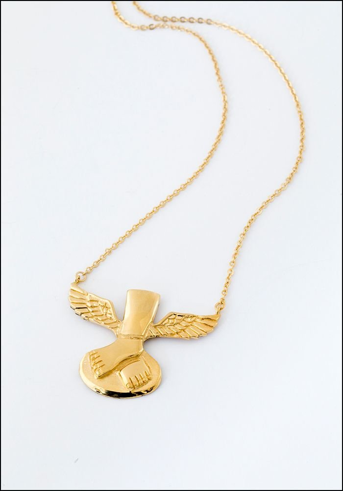 Sophie Simone Sophie Simone Winged Feet Necklace