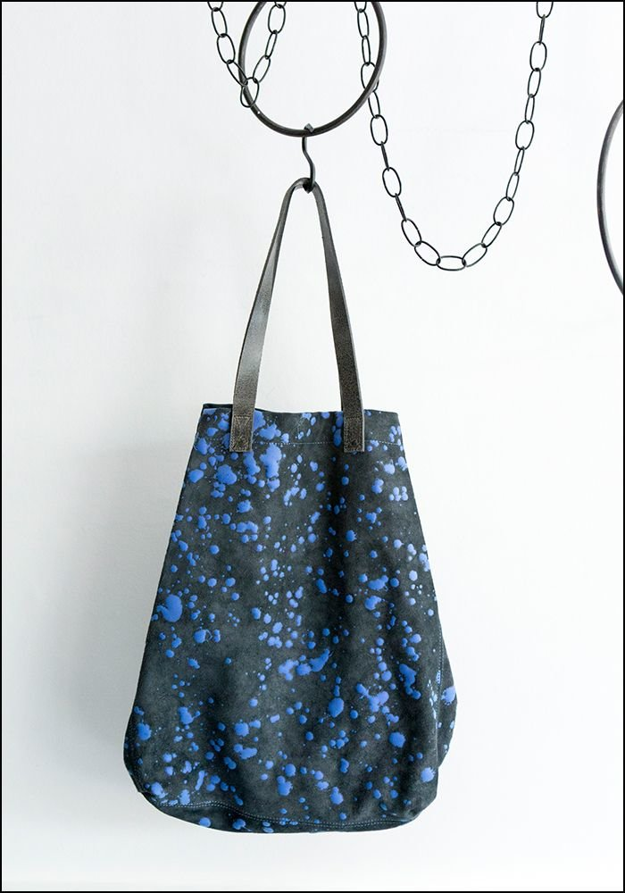 Saisei Leather Splatter Shopper