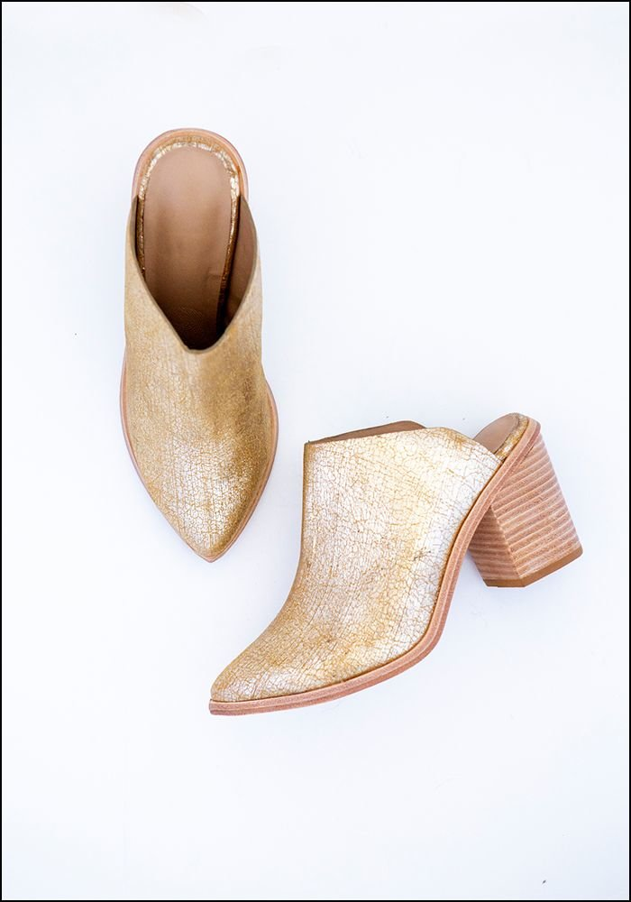 Wal and Pai Doheny Block Heeled Mules