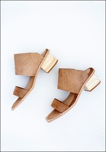 Wal and Pai Wal and Pai Hair on Hide Nude Slide Sandal