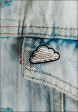 Silver Cloud Embroidered Pin