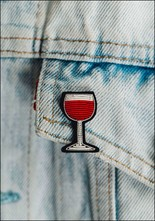 Macon + Lesquoy Wine Embroidered Pin