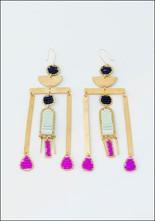 Alchemilla Tower Earrings Fucsia