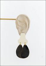 Sibilia Cream Stepping Stone Earrings