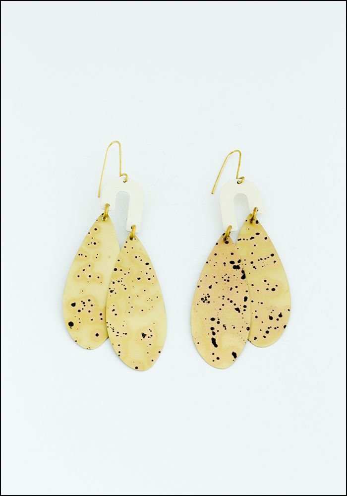 Teardrop Spotted Earrings