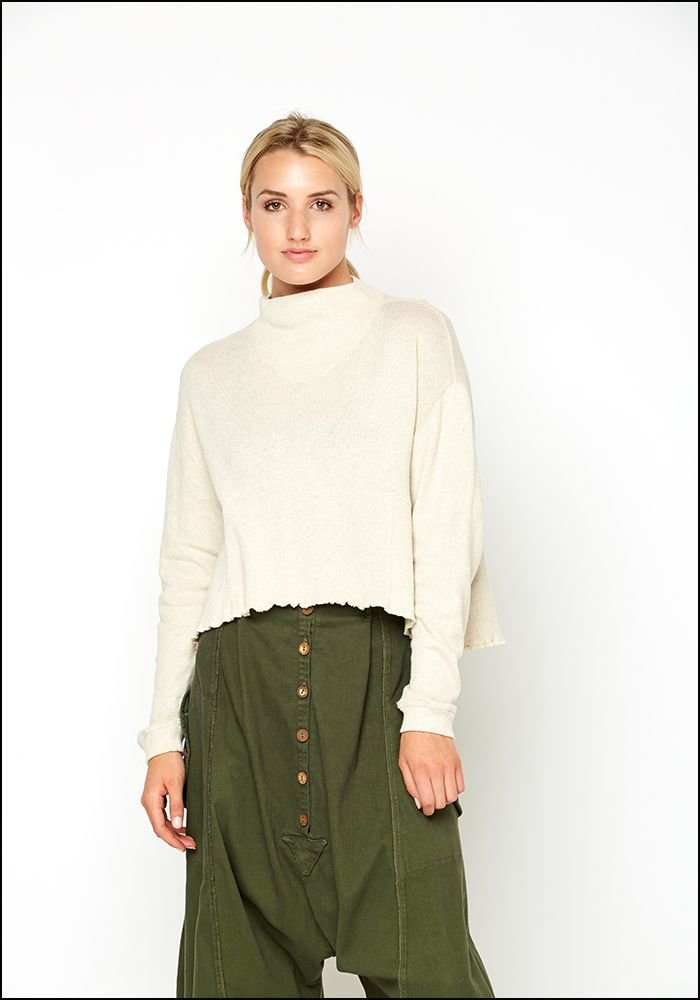 Mock Turtle Crop Sweater