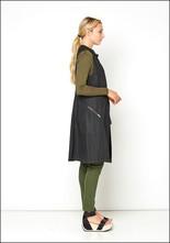 Long Waxed Linen Vest