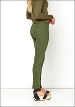 Fitted Button Trousers