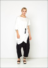 Ocksa Asymmetric Buckle Tunic