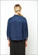 Lurdes Bergada Boxy Denim Button Up Shirt