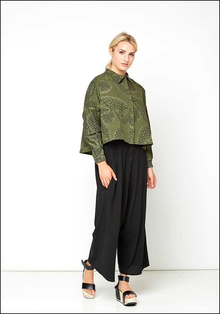 Lurdes Bergada Boxy Cactus Button Up Shirt