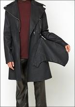 Lurdes Bergada Resin Zip Trench Coat