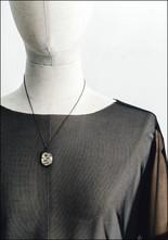 Acanthus Faceted Quartz Gilded Serpent Necklace