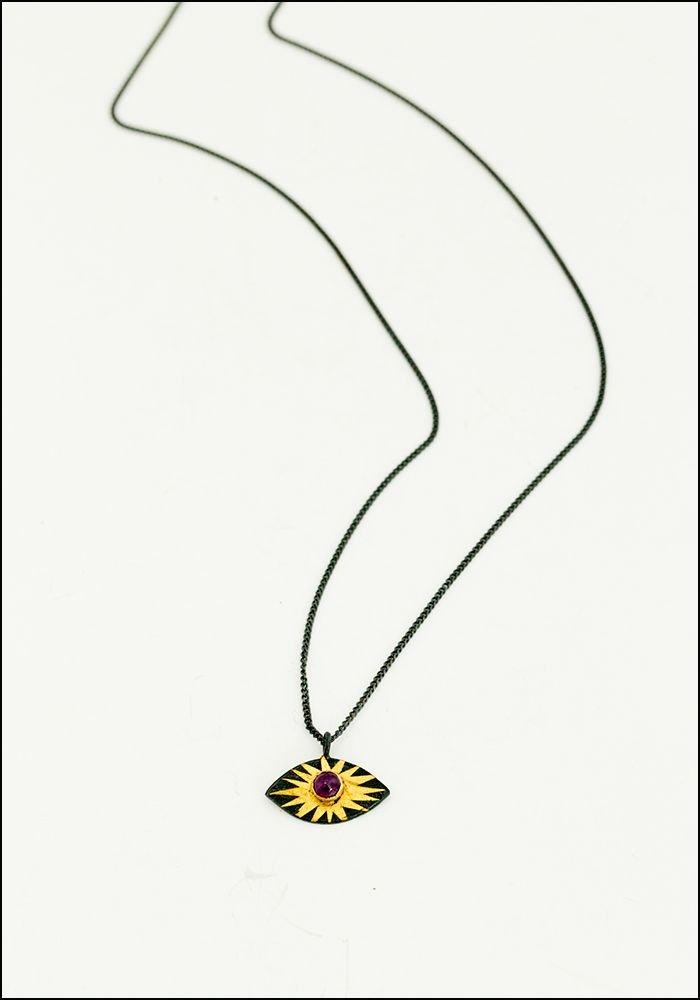 Evil Eye Ruby Necklace