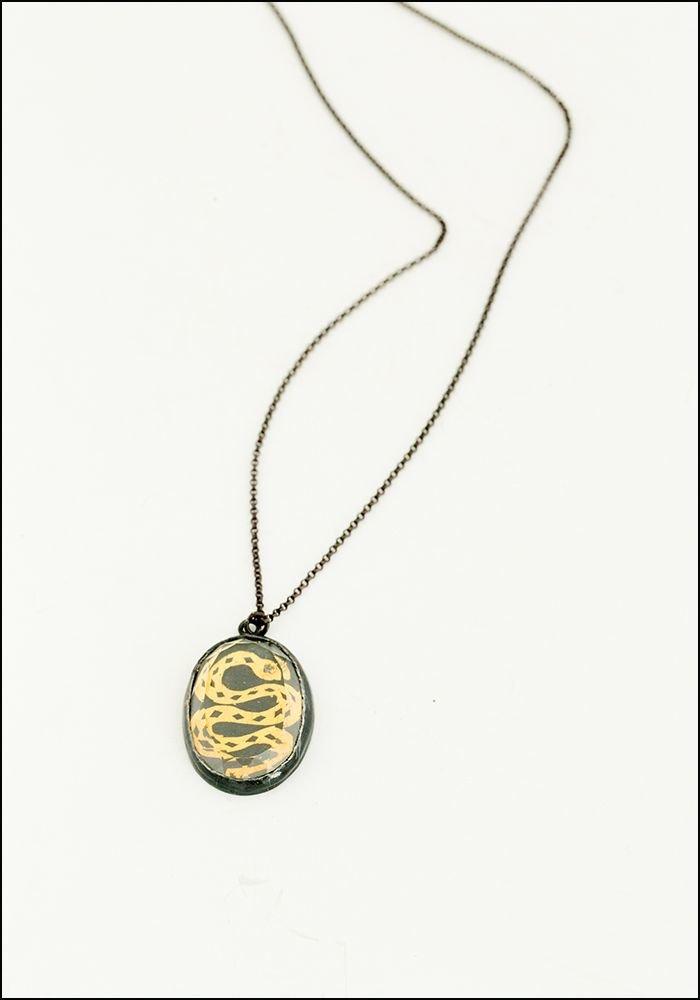 Faceted Quartz Serpent Necklace