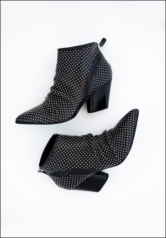 Halmanera Halmanera Studded Leather Bootie