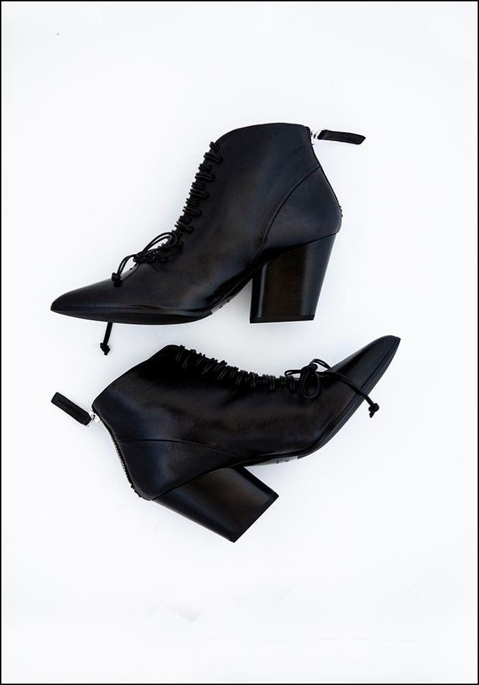 Halmanera Halmanera Lace Up Leather Bootie