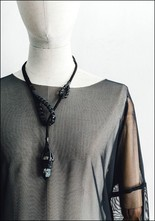 Design Aust Leather and Smoky Necklace