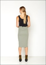 Serie Numerica S°N Ribbed Jersey Fitted Pencil Skirt