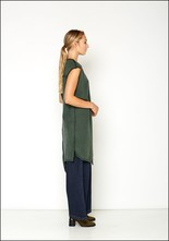 Ocksa Long Ribbed Asymmetric Tunic
