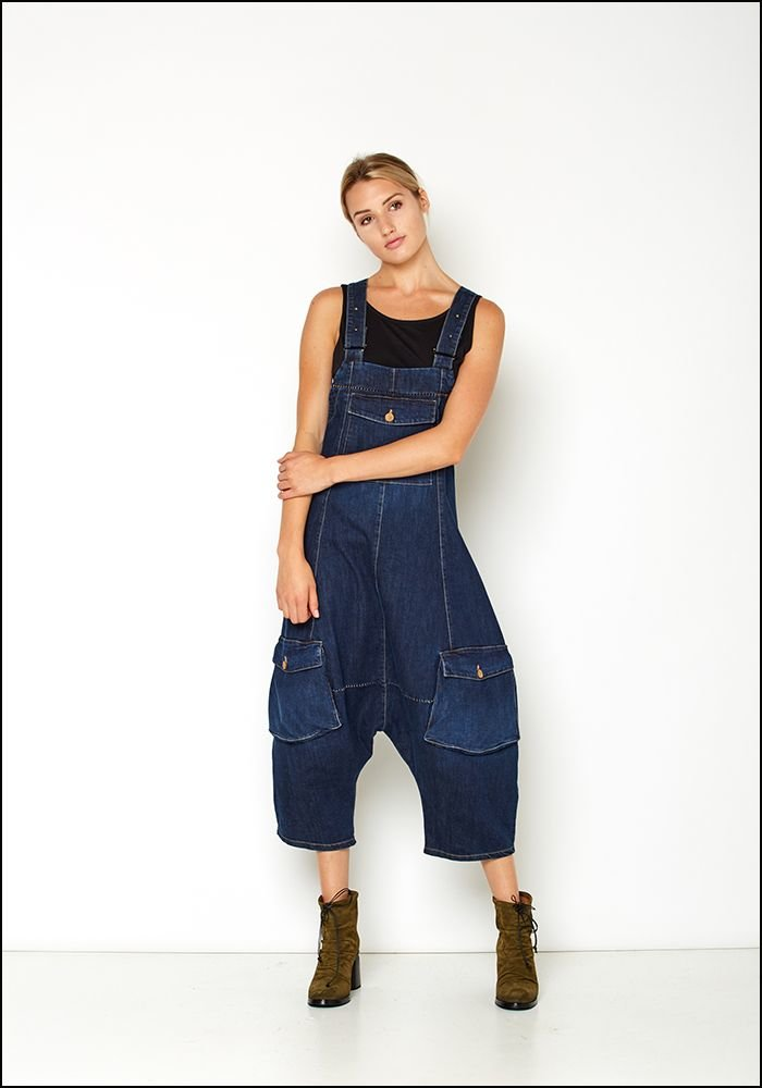 Denim Drop Full Leg Overalls