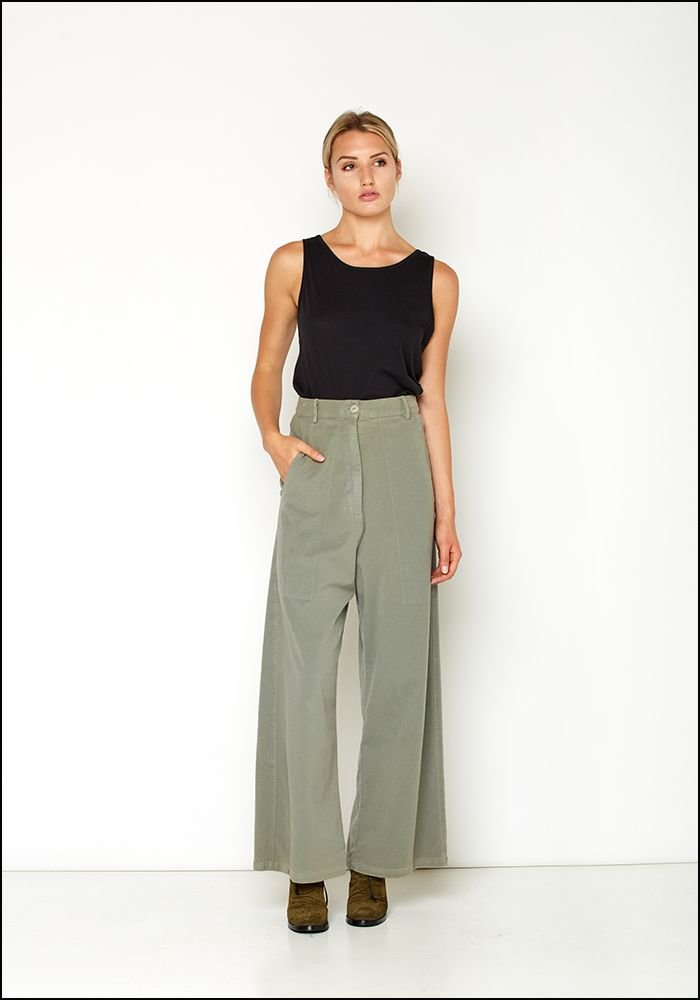 Serie Numerica Wide Leg Cotton Pant