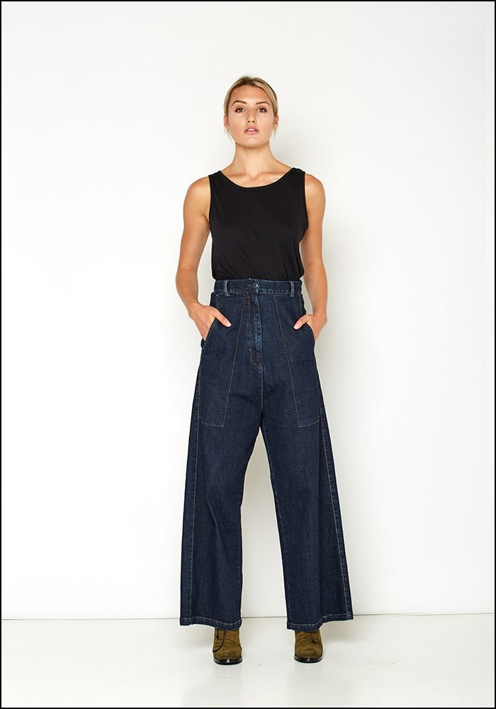 Serie Numerica S°N High Waist Wide Leg Denim Pant