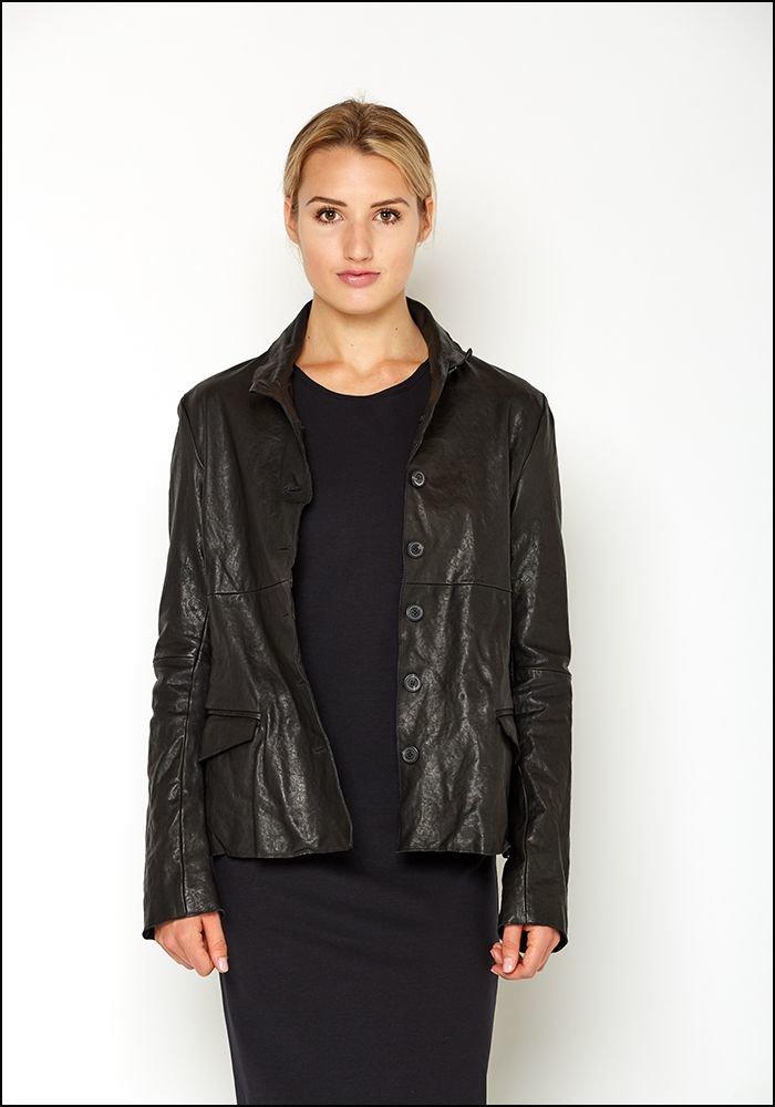 Rundholz DIP Seamed Back Leather Jacket