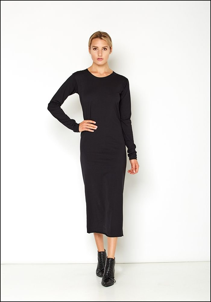 Serie Numerica Jersey Long Sleeve Dress