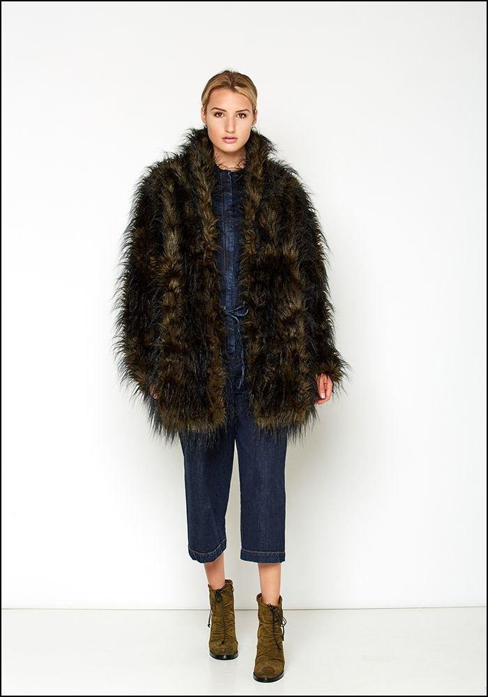 Rundholz Black Label Oversized Faux Fur Jacket