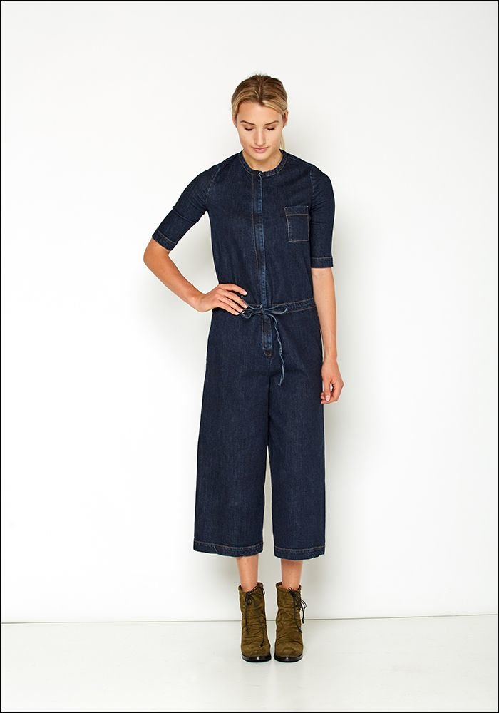 Serie Numerica Denim Shortsleeve Jumpsuit