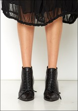 Halmanera Halmanera Lace Up Leather Bootie