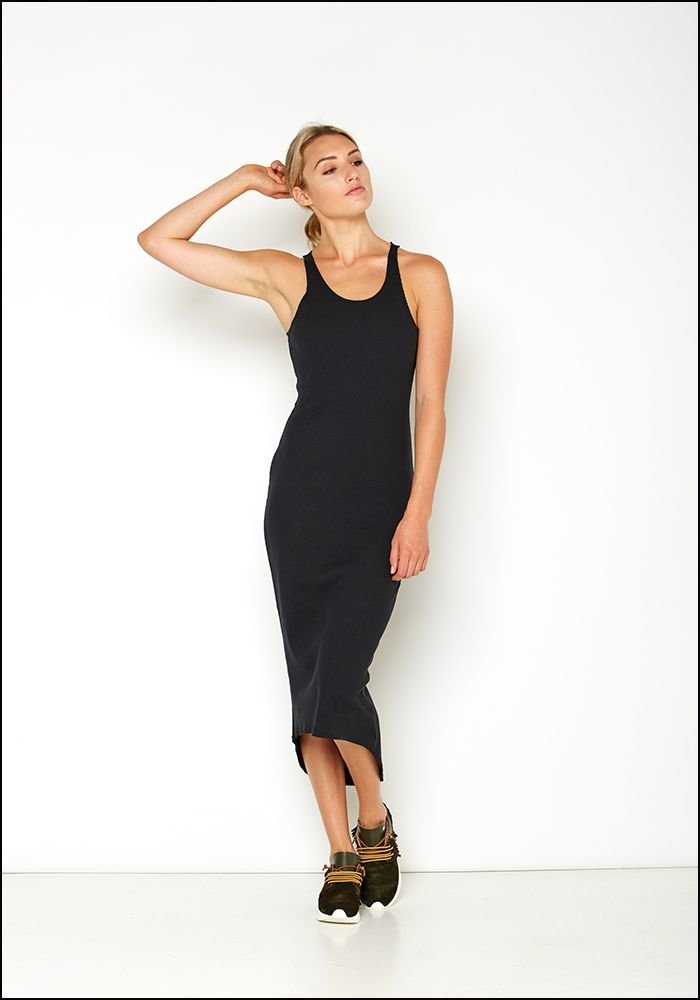 Serie Numerica Jersey Ribbed Racerback Tank Dress