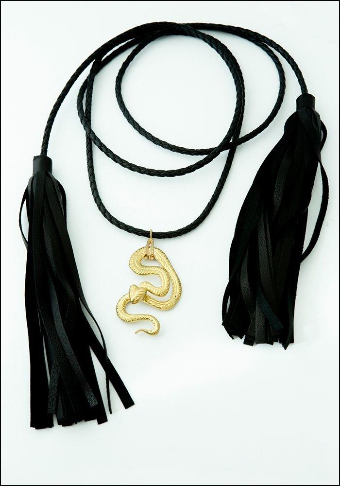 Gilded Snake and Tassel Lariat
