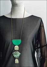 Sibilia Fern Flow Chart Necklace