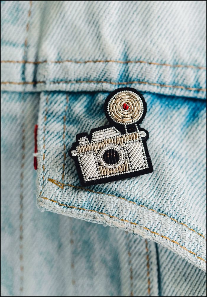 Macon and Lesquoy Camera Embroidered Pin