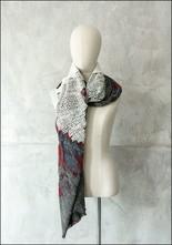 Mii Mii Collection Zig Zag Embroidered Scarf