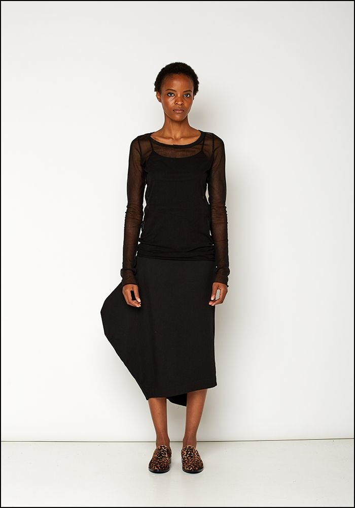Rundholz Black Label Asymmetric Fitted Skirt