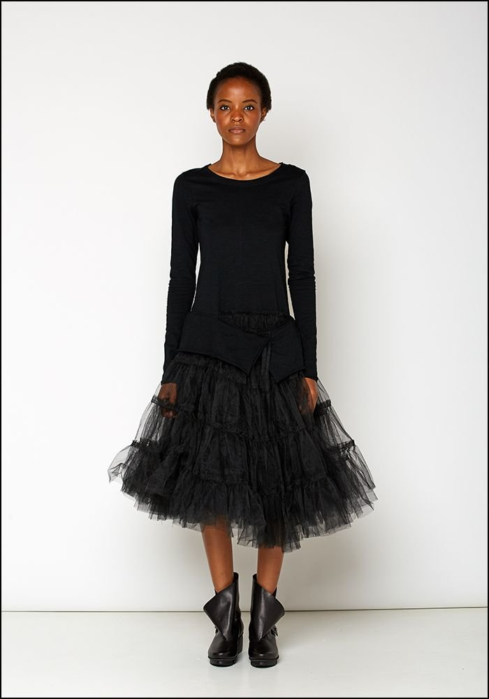 Rundholz Black Label Full Tulle Skirt Long Sleeve Dress