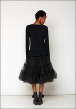 Rundholz Black Label Full Tulle Skirt Long Sleeve Dress