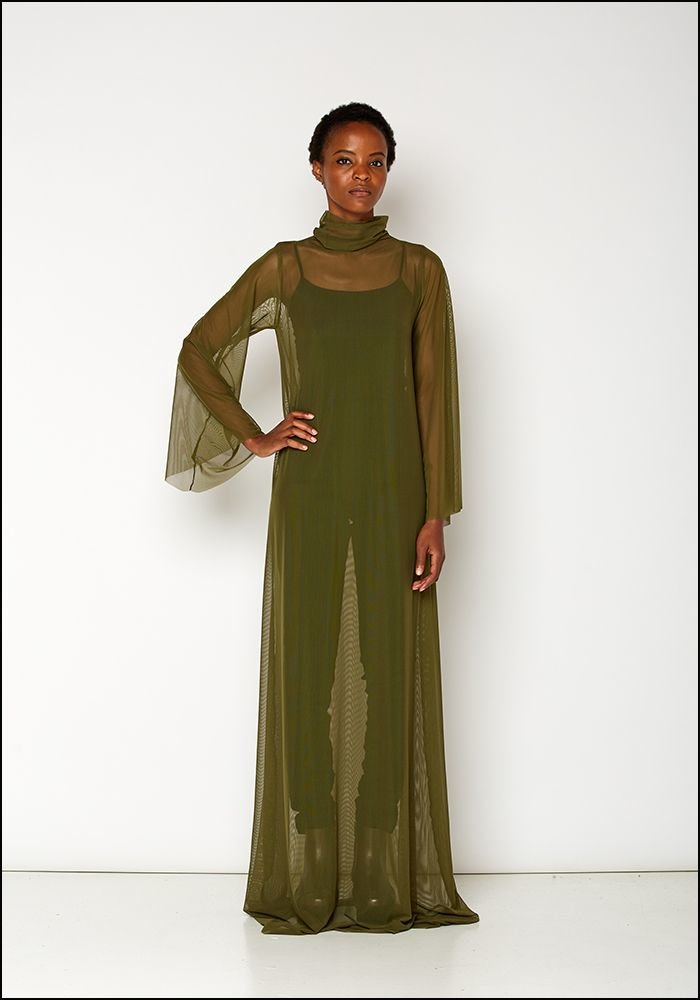 Ark NYC Mesh Maxi Dress